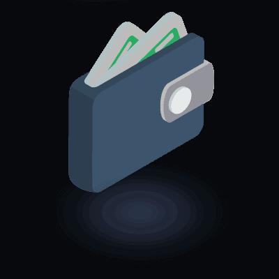 אייקון של ארנק עם שטרות